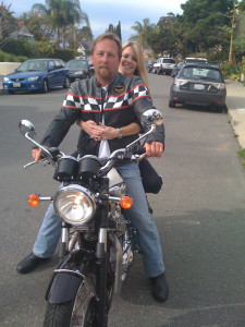 Jeff, his bike and a chick