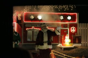 Santa at the North Pole train station