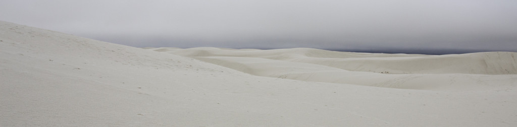 Gypsum sand dunes at White Sands, NM