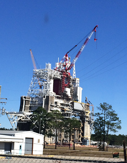 Rocket engine test pad @ Stennis Space Center
